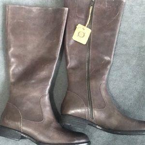 Born north gray full grain leather tall boots